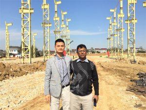 バングラデシュのお客様は新しい工場を訪ねる