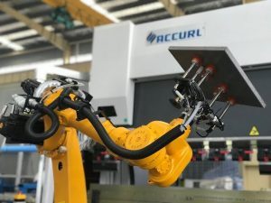 板金の自動ロボットプレスブレーキ用ロボット曲げセルシステム